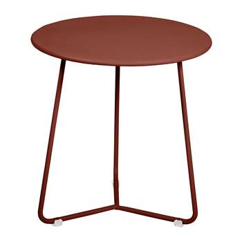 Fermob - Cocotte Side Table - Red Ochre (H36 x W34 x D34cm)
