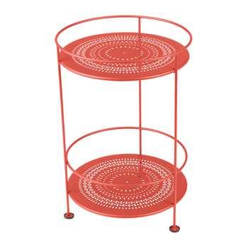 Fermob - Guinguette Side Table - Poppy (H62 x W40 x D40cm)