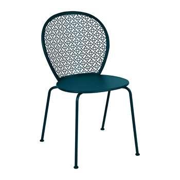 Fermob - Lorette Garden Chair - Acapulco Blue (H84 x W46 x D42cm)