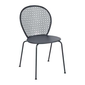 Fermob - Lorette Garden Chair - Anthracite (H84 x W46 x D42cm)