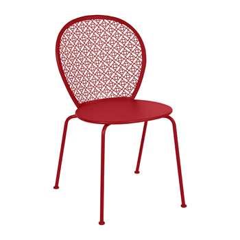 Fermob - Lorette Garden Chair - Poppy (H84 x W46 x D42cm)