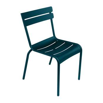 Fermob - Luxembourg Garden Chair - Acapulco Blue (H88 x W49 x D57cm)