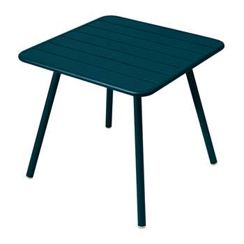 Fermob - Luxembourg Garden Table - Acapulco Blue (H74 x W80 x D80cm)