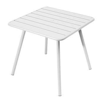 Fermob - Luxembourg Garden Table - Cotton White (H74 x W80 x D80cm)