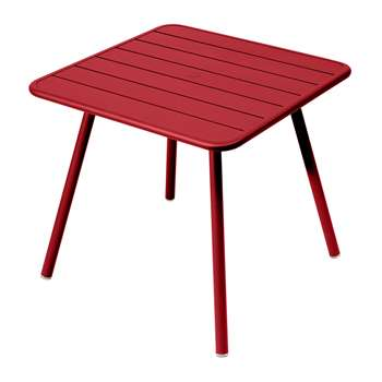Fermob - Luxembourg Garden Table - Poppy (H74 x W80 x D80cm)