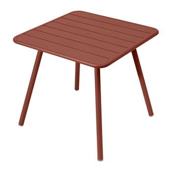 Fermob - Luxembourg Garden Table - Red Ochre (H74 x W80 x D80cm)