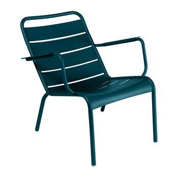 Fermob - Luxembourg Low Armchair - Acapulco Blue (H72 x W69 x D86.5cm)