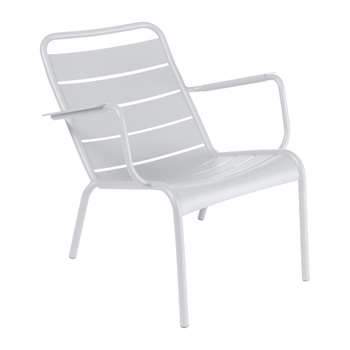 Fermob - Luxembourg Low Armchair - Cotton White (H72 x W69 x D86.5cm)