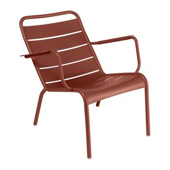 Fermob - Luxembourg Low Armchair - Red Ochre (H72 x W69 x D86.5cm)