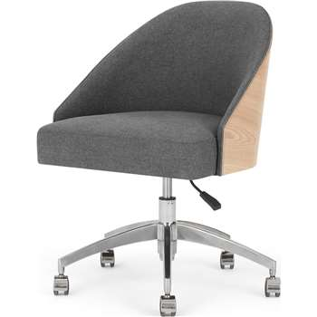 Fernanda Office Chair, Ash and Marl Grey (H82 x W60 x D69cm)