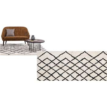 Fes Tufted Rug, Off White (120 x 170cm)