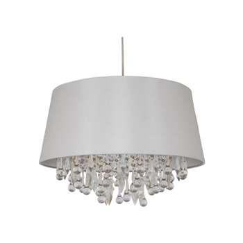 Fifi Pendant Light Shade Ivory (H28 x W42 x D42cm)