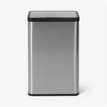 Fikran 60L Touch-Free Stainless Steel Sensor Bin, Silver (H68 x W41 x D29cm)