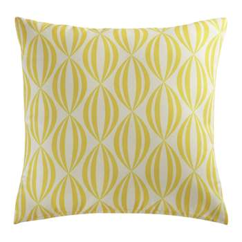 FILAO yellow/white outdoor cushion 40 x 40cm