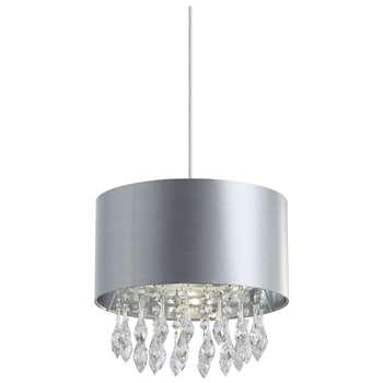 Finn Pendant Light Shade Silver (H26.5 x W30 x D30cm)