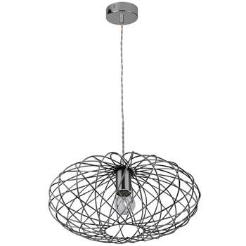 Firefly Pendant Ceiling Light Satin Nickel (H149 x W38 x D38cm)
