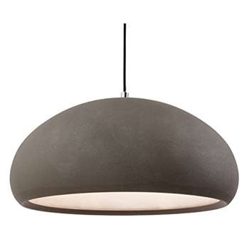 Firstlight 2308CN E27 Edison Screw 60 Watt Costa Rough Sand Concrete Pendant Light (Width 40cm)