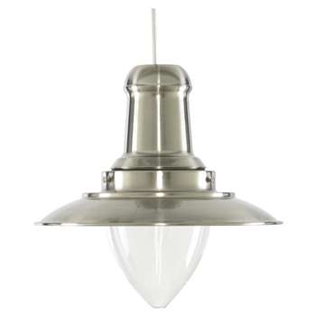 Fisherman Pendant Light Shade Silver (H28 x W29 x D29cm)