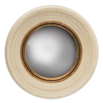 Fitzroy Convex Mirror - Cream (51 x 51cm)