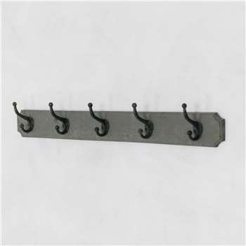 Five Hook Coat Holder (H12 x W88 x D8cm)