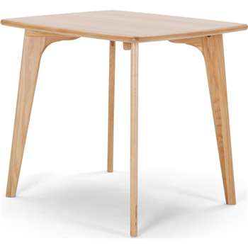 Fjord Compact Dining Table, Oak (75 x 81cm)