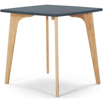 Fjord Compact Dining Table, Oak and Blue (75 x 81cm)
