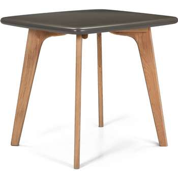Fjord Compact Dining Table, Oak and Grey (75 x 81cm)
