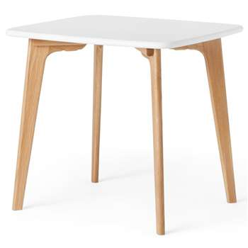 Fjord Compact Dining Table, Oak and White (75 x 81cm)