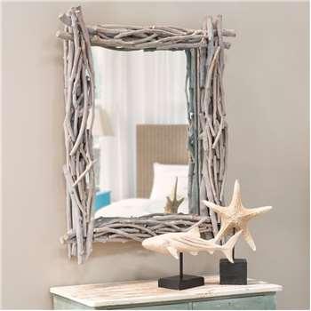 FJORD driftwood mirror H 113cm