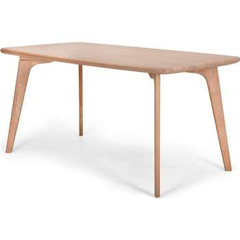 Fjord 6 Seat Dining Table, Oak (H75 x W151 x D81cm)