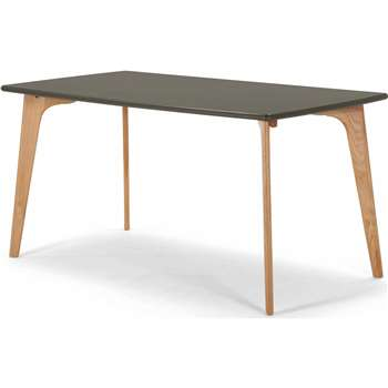 Fjord Rectangle Dining Table, Oak and Grey (75 x 151cm)
