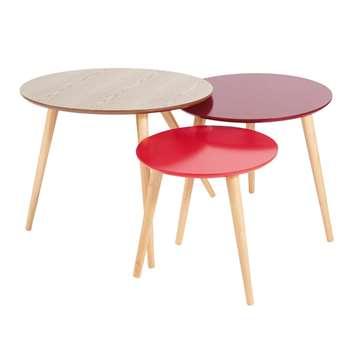 FJORD Red Vintage Nest of Tables (50 x 60cm)