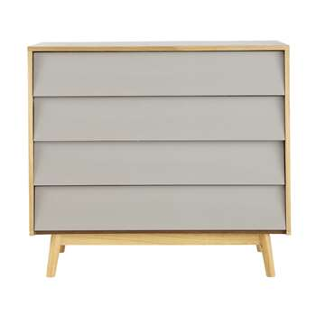 Fjord Vintage Grey 4-Drawers Chest (80 x 90cm)