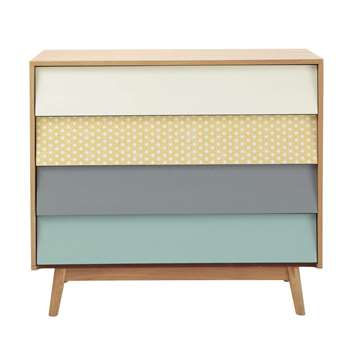 FJORD Vintage Multicoloured 4-Drawer Chest (80 x 90cm)