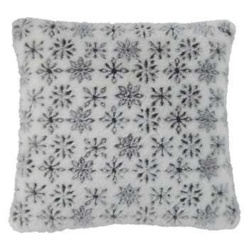 FLAKE Faux Fur Cushion in Flake Pattern (H45 x W45cm)