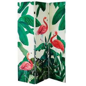 FLAMINGO Pink Flamingo Print Screen (H180 x W121 x D2.5cm)