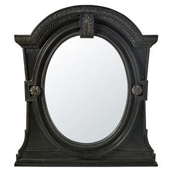 FLANDRES - Mirror with Black Mango Wood Mouldings (H150 x W134 x D9.5cm)