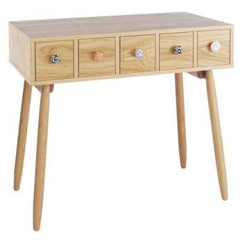 Fleur Oak dressing table (Width 86.5cm)
