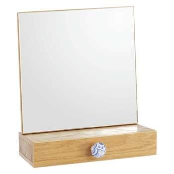Fleur Oak-framed mirror (Width 30cm)