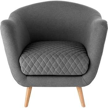 Flick Accent Chair, Marl Grey (86 x 62cm)