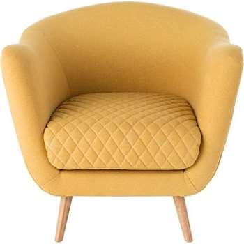Flick Accent Chair, Yolk Yellow (86 x 62cm)