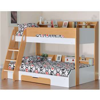 Flick Triple Bunk Bed in Maple (159 x 164.5 x 198cm)