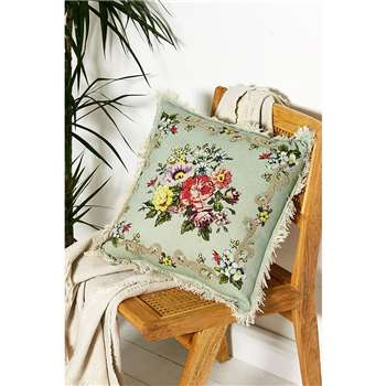 Floral Cross Stitch Cushion