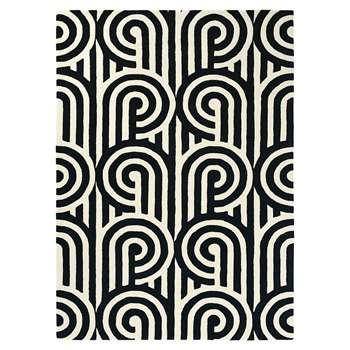 Florence Broadhurst - Turnabouts Rug - Black (H120 x W180cm)