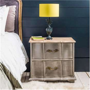 Florence Grey Wooden Bedside (55 x 55cm)