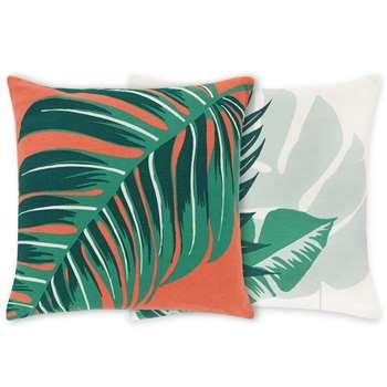 Flores Set of 2 Printed Cushions, Multi (H45 x W45cm)