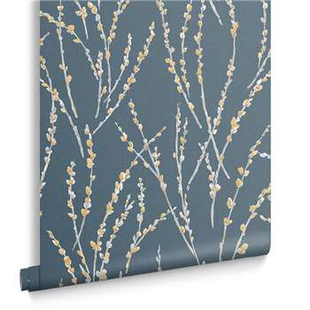 Floret Teal Wallpaper (H1000 x W52cm)