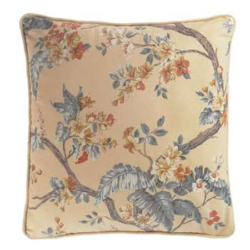 Florintine Printed Antique Gold Cushion (H45 x W45cm)