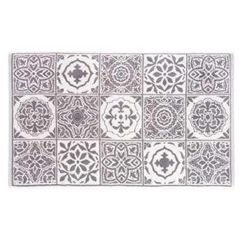 FLORIS Cotton Bath Mat with Cement Tiles Motif (50 x 80cm)