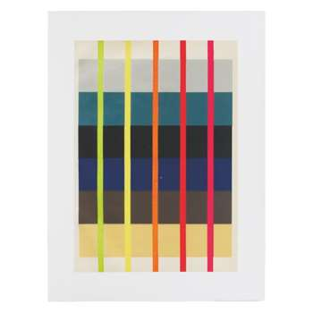 Fluoro Abstract 60 x 80cm print by Vintage by Hemingway